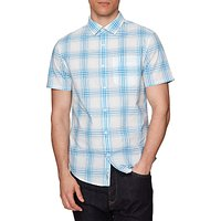 Original Penguin Short Sleeve Plaid Shirt, French Blue