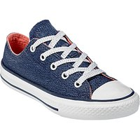 Converse Childrens Chuck Taylor All Star Ox Trainers, Navy Glitter