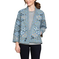 East Floral Embroidery Jacket, Navy/Multi