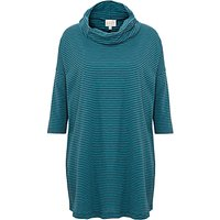 East Stripe Cowl Neck Top, Teal