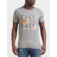 Scotch & Soda Take It Easy T-Shirt, Grey Melange