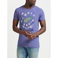 Scotch & Soda Power Lounging T-Shirt, Purple Stone Melange