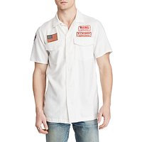 Denim & Supply Ralph Lauren Short Sleeve Moto Sport Shirt, White