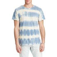 Denim & Supply Ralph Lauren Crew Neck Stripe T-Shirt, Station Blue