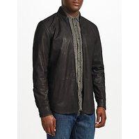Diesel L-Dread Cowhide Leather Jacket, Black