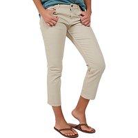 Fat Face Garment Dye Cropped Jeans, Sandstone