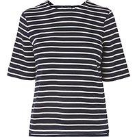 L.K. Bennett Ana Stripe Jersey Top, Sloane Blue