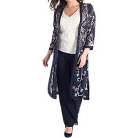 Chesca Cornelli Embroidered Lace Coat, Navy
