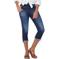 Fat Face Blue Sky Straight Leg Cropped Jeans, Denim