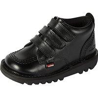 Kickers Childrens Kick 3 Strap Shoes, Black