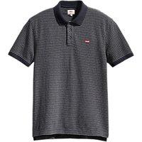 Levis Housemark Stripe Polo Shirt, Dark Grey Heather/Night Sky