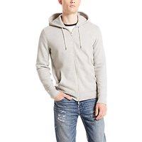 Levis Original Zip Up Hoodie, Medium Grey Heather
