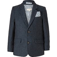 John Lewis Heirloom Collection Boys' Flap Pocket Wool Blazer Jacket, Teal