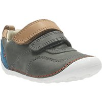 Clarks Childrens Tiny Aspire Leather Shoes, Grey