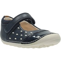 Clarks Childrens Little Lou Shoes, Navy/White