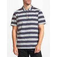 John Lewis Double Stripe Polo Shirt, Navy