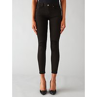 7 For All Mankind The Skinny Cropped Jeans, Rinsed Black