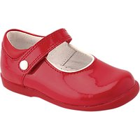 Start-Rite Childrens Nancy Leather Rip-Tape Shoes, Red