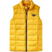 Little Joule Boys' Junior Crofton Pack Away Gilet, Gold