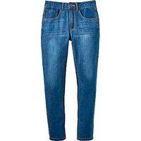 Joules Little Joule Boys' Junior Ted Jeans, Mid Wash Denim