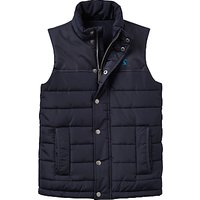 Joules Little Joule Boys' Junior Match Day Gilet, Navy