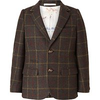 John Lewis Heirloom Collection Boys' Check Jacket, Green