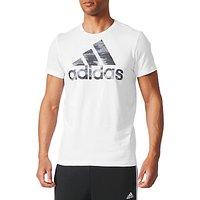 Adidas Essentials Badge of Sport Foil Logo T-Shirt, White