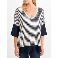 Weekend MaxMara Coccole Stripe Jumper, Navy/Sand