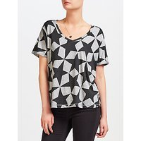 Maison Scotch Star Print T-Shirt, Grey