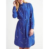Samsoe & Samsoe Birsto Printed Silk Dress, Matisse Blue