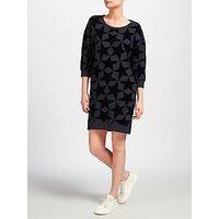 Maison Scotch Star Print Sweatshirt Dress, Grey/Black