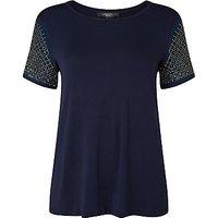 Weekend MaxMara Teti Crepe De Chine Jersey T-Shirt, Ultramarine