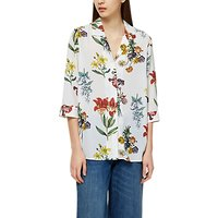 Selected Femme Dixie Floral Print Top, Snow White