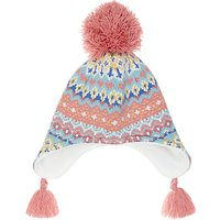 John Lewis Childrens Pretty Fair Isle Trapper Hat, Multi