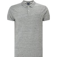 Scotch & Soda Classic Garment Dyed Polo Shirt, Grey