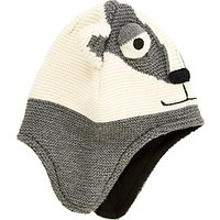 John Lewis Childrens Badger Trapper Hat, Grey