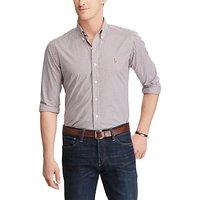 Polo Ralph Lauren Checked Cotton Poplin Standard Fit Shirt, Red/Navy