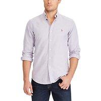 Polo Ralph Lauren Slim Fit Cotton Poplin Shirt, Concord/White