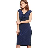 Lauren Ralph Lauren Cowl Neck Stretch Jersey Dress, Lighthouse Navy