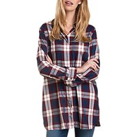Barbour Beachley Check Tunic Shirt, French Navy