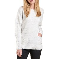 Barbour Priory Cable Knit Jumper, Cloud