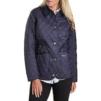 Barbour Annandale Diamond Quilted Coat, Navy