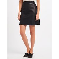 Weekend MaxMara Pio Leather Jersey Back Skirt, Black