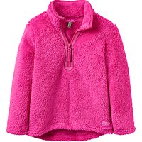 Little Joule Girls Fluffy Half Zip Fleece, Pink