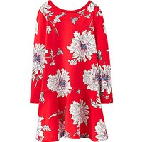 Little Joule Girls Floral Peony Dress, Red