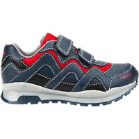 Geox Childrens Pavel Riptape Trainers, Navy/Red
