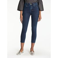 J Brand Alana High Rise Cropped Super Skinny Jeans, Throne