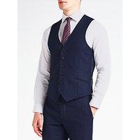 Richard James Mayfair Speckled Wool Flannel Slim Fit Waistcoat, Cobalt Blue