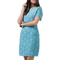 Sugarhill Boutique Love Mermaid Shift Dress, Dusky Blue