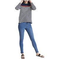 Joules Clemence Stripe Sweatshirt, French Navy Stripe